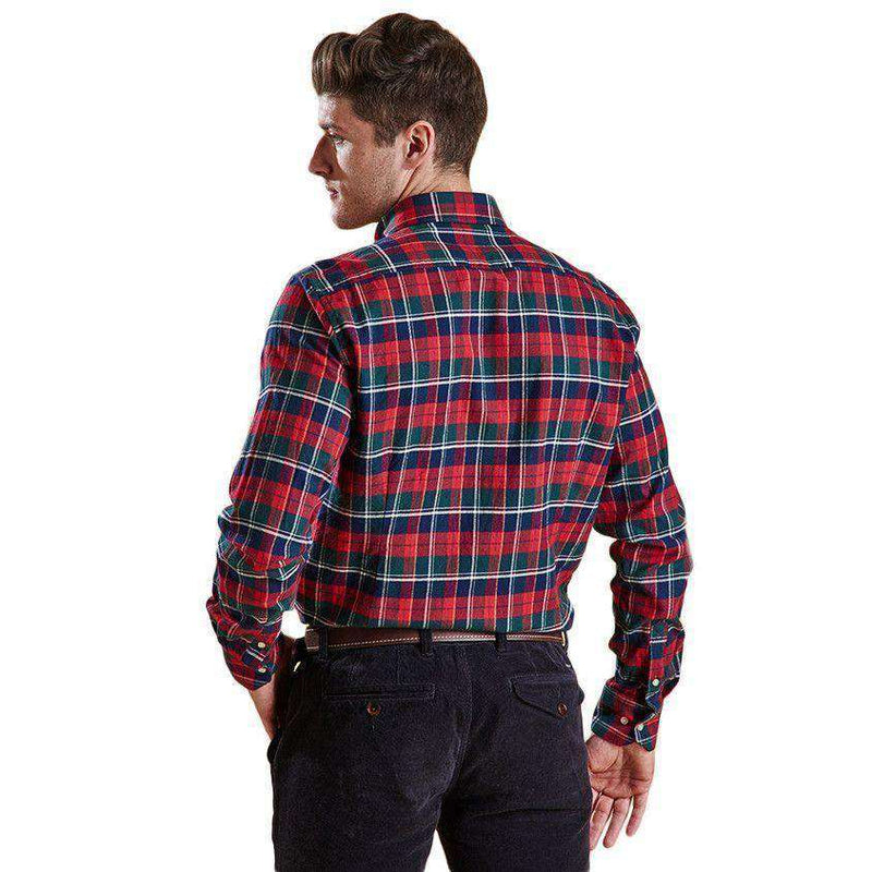 Castlebay Tailored Fit Button Down in Rich Red by Barbour