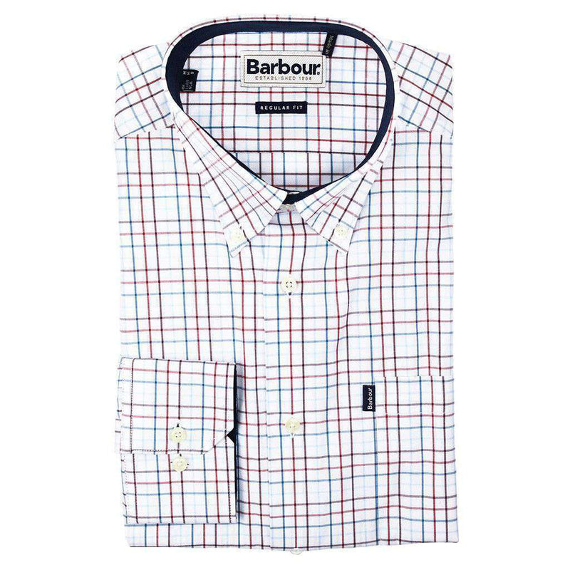 Men's Button Downs - Charles Regular Fit Button Down In Crimson By Barbour