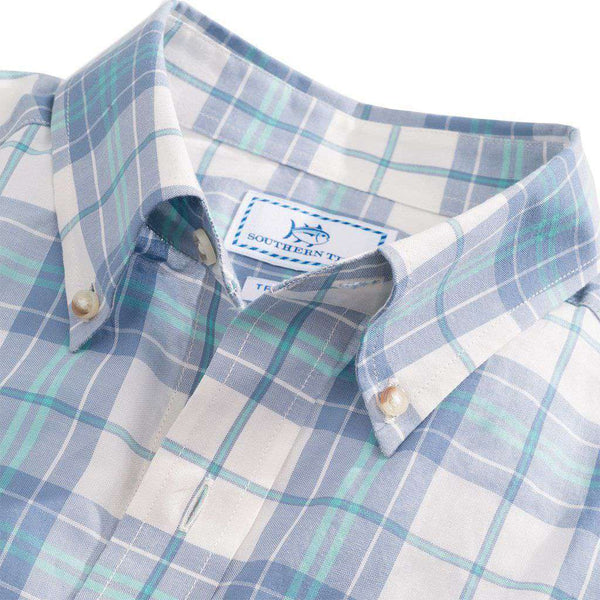 Men's Button Downs - Charleston Station Plaid Sport Shirt In Marshmallow By Southern Tide - FINAL SALE