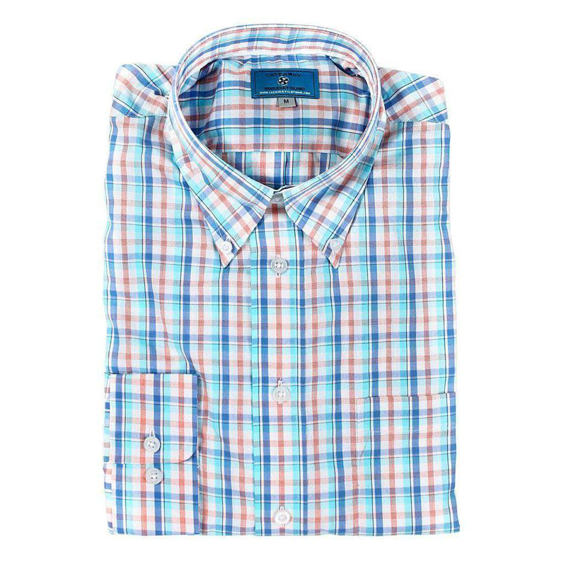 Chase Long Sleeve Button Down Shirt in Caicos Plaid by Castaway Clothing