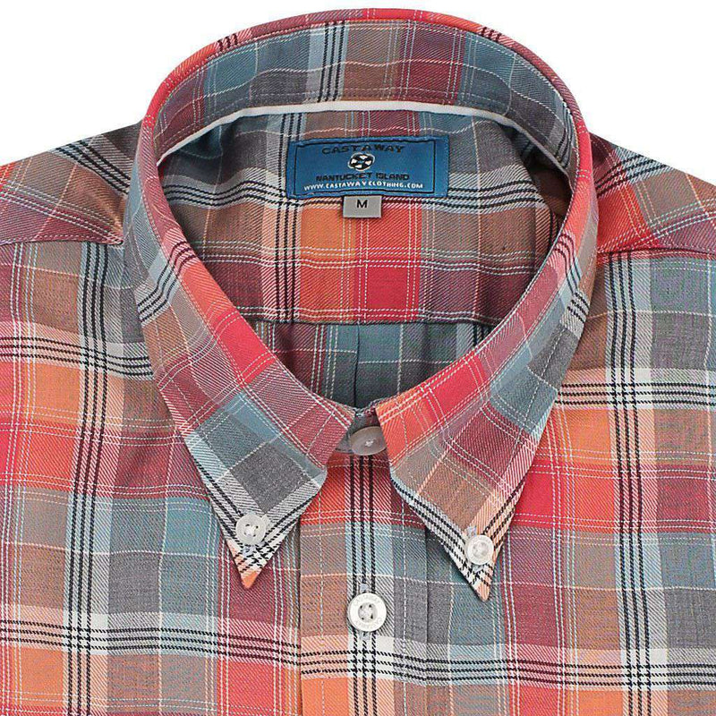 Men's Button Downs - Chase Long Sleeve Shirt In Harvest Plaid Dawn By Castaway Clothing - FINAL SALE