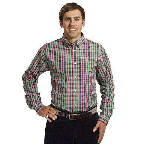Men's Button Downs - Chase Long Sleeve Shirt In Plaid Spruce By Castaway Clothing - FINAL SALE
