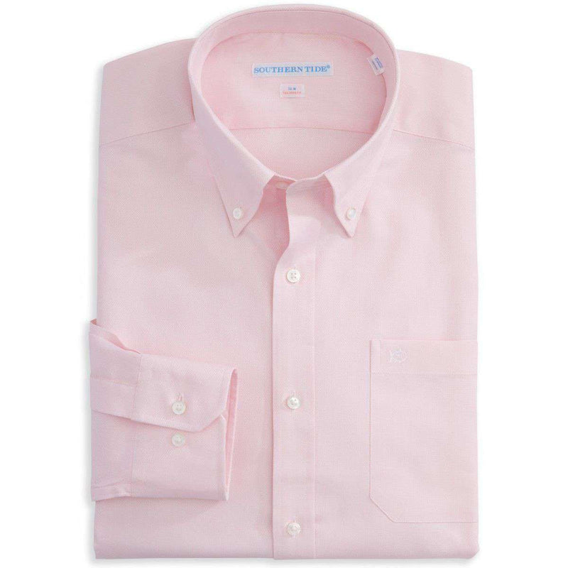 Men's Button Downs - Classic Fit Royal Oxford In Pink By Southern Tide