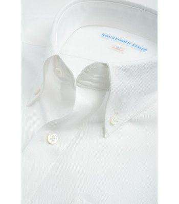 Men's Button Downs - Classic Fit Royal Oxford In White By Southern Tide