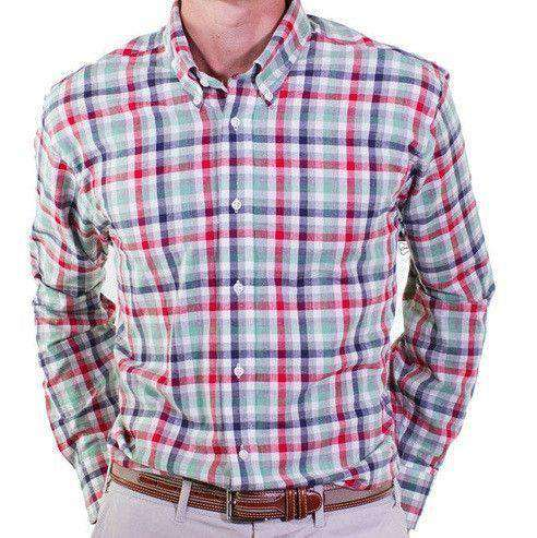Classic Straight Gingham Wharf Shirt in Seafoam by Castaway Clothing - FINAL SALE