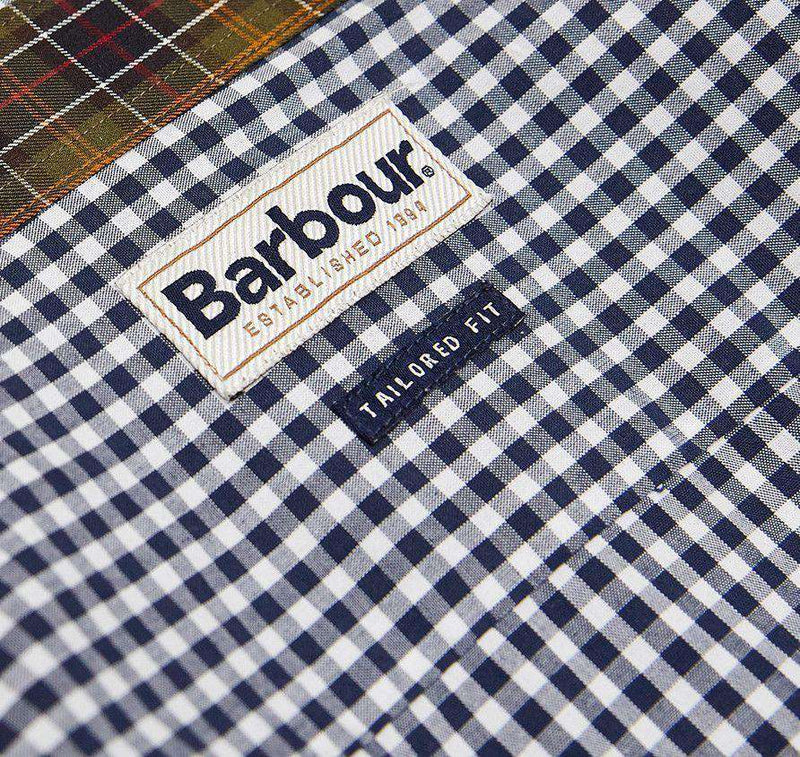 Men's Button Downs - Country Gingham Shirt In Navy By Barbour