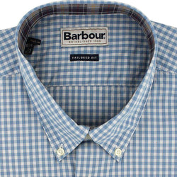 Men's Button Downs - Country Gingham Shirt In Sky Blue By Barbour
