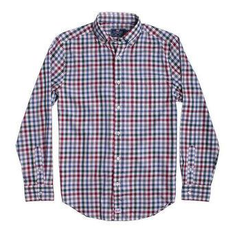 Men's Button Downs - Custom Tin House Check Classic Murray Shirt In Moonshine By Vineyard Vines - FINAL SALE