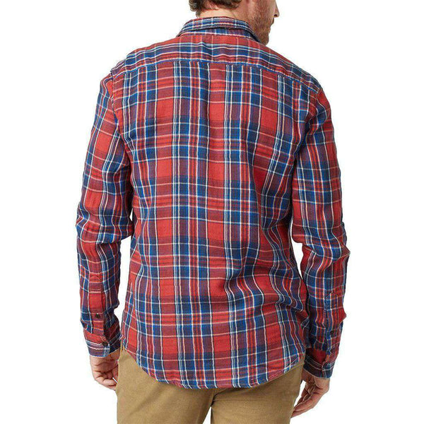 Doublecloth Shirt in Red Farmer Plaid by Faherty