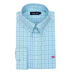 Men's Button Downs - Dunlavy Check Dress Shirt In Lilac And Mint By Southern Marsh
