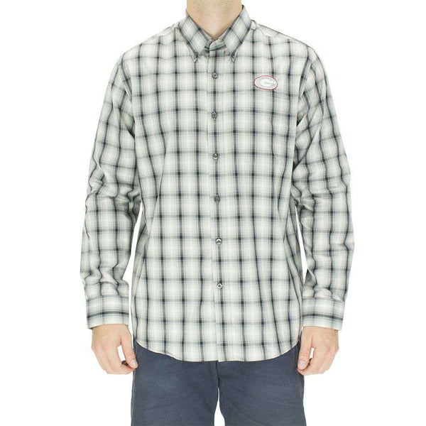 Men's Button Downs - Georgia Button Down In North Point Plaid By Cutter & Buck