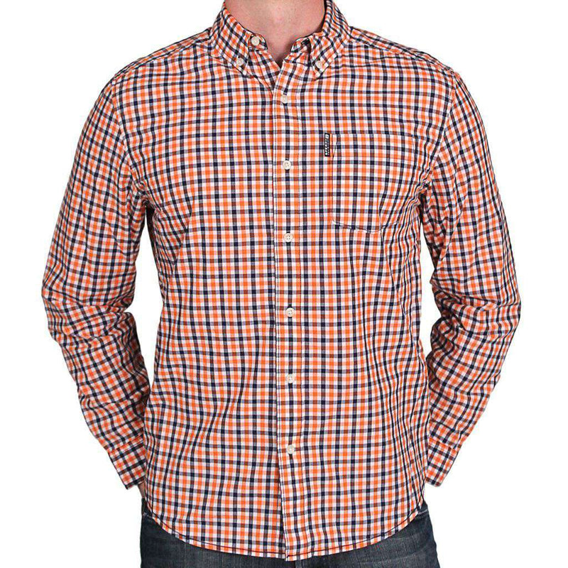 Gingham Shirt in Orange and Navy by Sperry