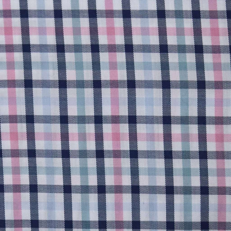 Men's Button Downs - Goal Line Shirt In Multi Check By Southern Proper - FINAL SALE