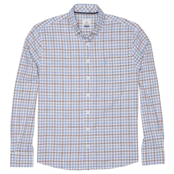 Men's Button Downs - Grainger Hangin' Out Button Down Shirt In French Blue By Johnnie-O