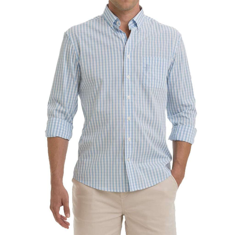 Hardy Prep-Formance Button Down in Cloud Blue by Johnnie-O - FINAL SALE