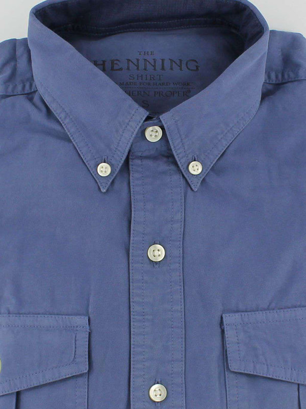 Henning Shirt in Faded Navy by Southern Proper