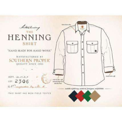 Men's Button Downs - Henning Shirt In Faded Navy By Southern Proper