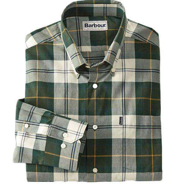 Herbert Tailored Fit Button Down in Ancient Tartan by Barbour