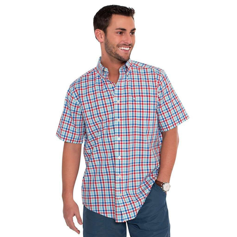 Men's Button Downs - Kingston Check Shirt In Old Glory By The Southern Shirt Co. - FINAL SALE