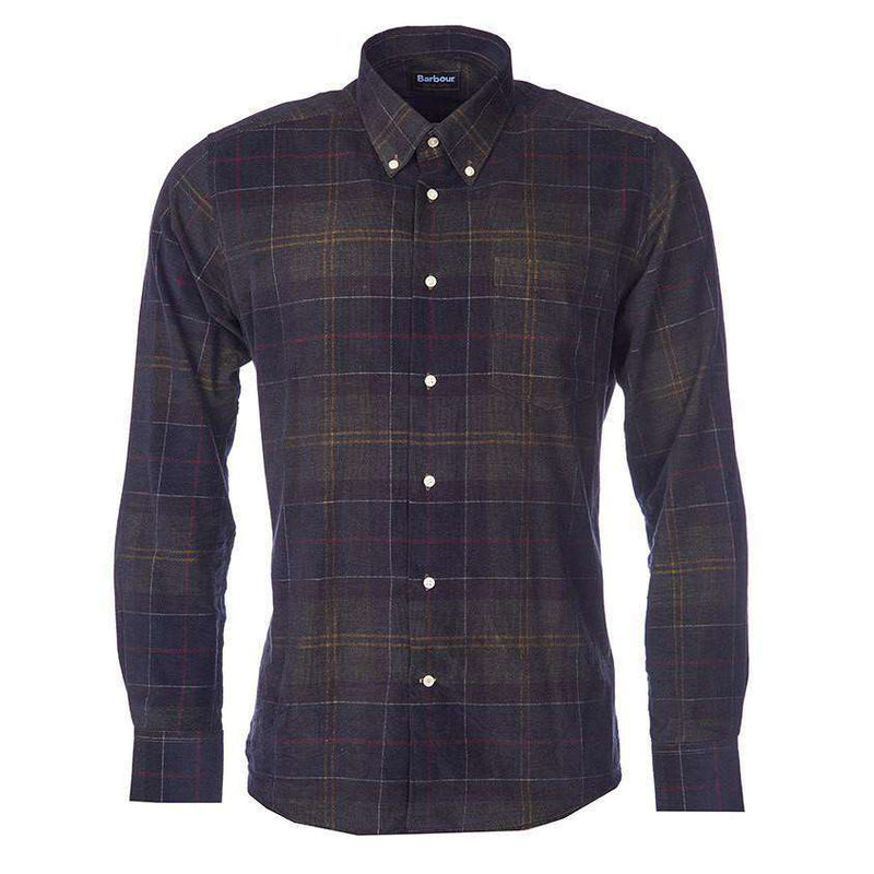 Men's Button Downs - Lawerence Tailored Fit Button Down In Classic Tartan By Barbour - FINAL SALE