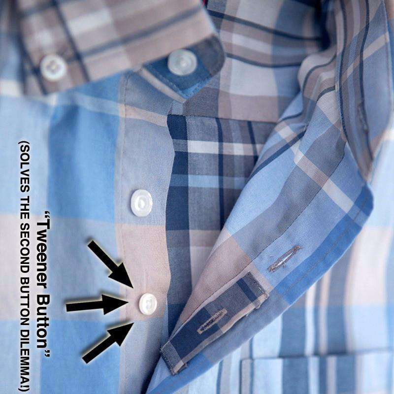 Men's Button Downs - Light Weight Plaid Button-Downs In Spring Fling Green By Johnnie-O - FINAL SALE