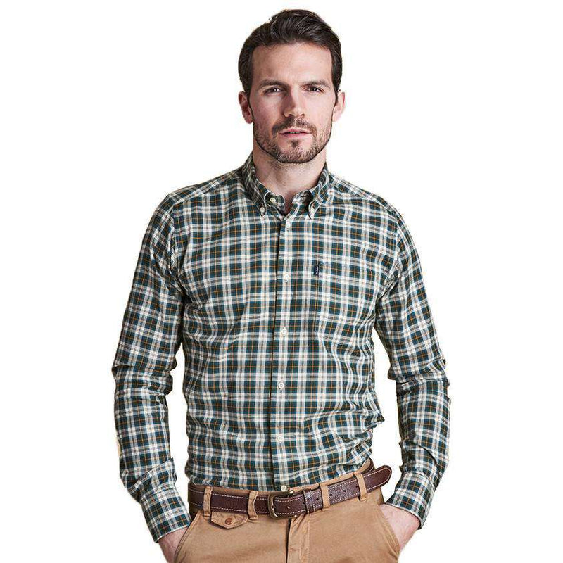 Men's Button Downs - Malcolm Tailored Fit Button Down In Ancient Tartan By Barbour