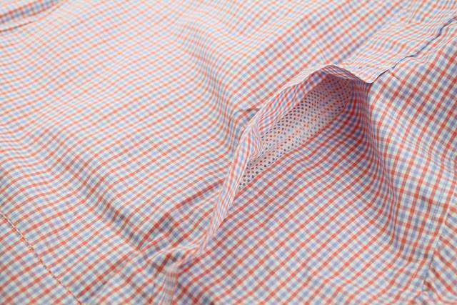 Men's Button Downs - Marina Fishing Shirt In Coral Reef Tattersall By Coast - FINAL SALE