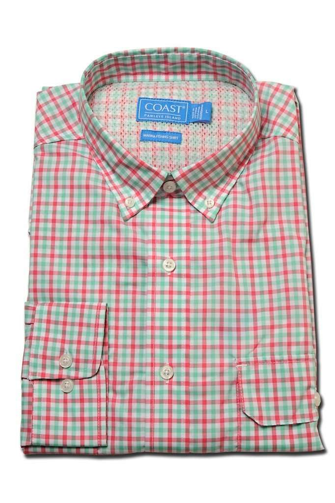 Marina Fishing Shirt in Snapper by Coast - FINAL SALE
