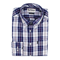 Men's Button Downs - Marvin Tailored Fit Button Down In Chambray Blue By Barbour