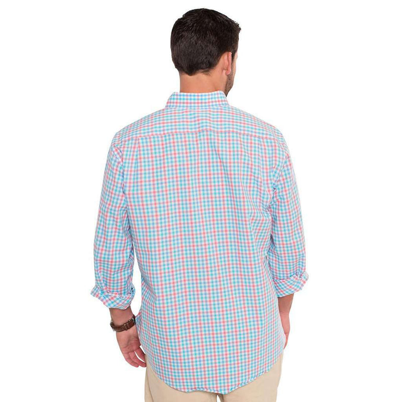 Midtown Check Cotton Club Shirt in Regatta by The Southern Shirt Co. - FINAL SALE