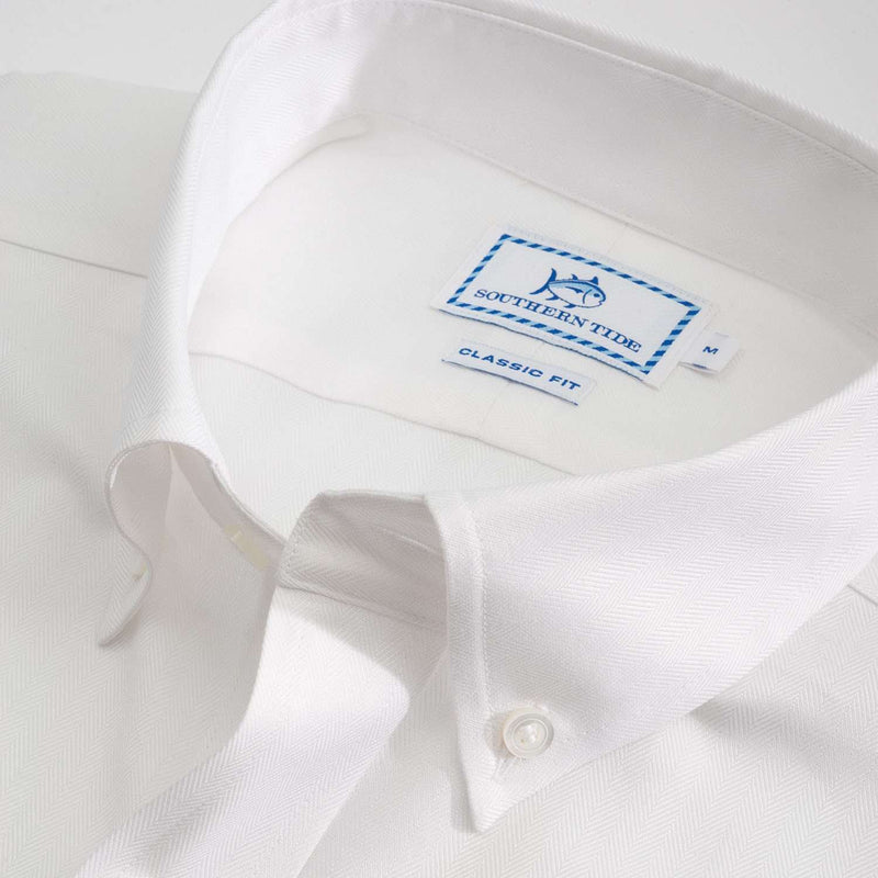 Modern Royalty Classic Fit Sport Shirt in Classic White by Southern Tide