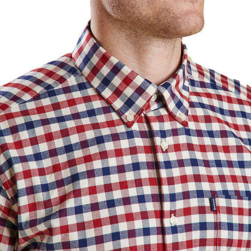 Moss Tailored Fit Button Down in Red by Barbour