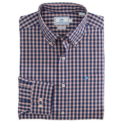Men's Button Downs - Mt. Pleasant Plaid Sport Shirt In Blue Night By Southern Tide