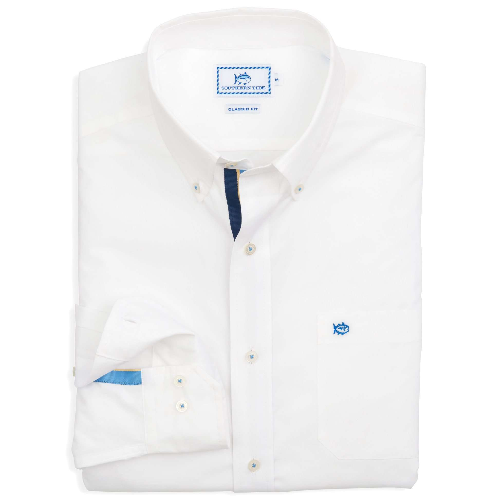Men's Button Downs - Ocean Point Sport Shirt In Classic White By Southern Tide