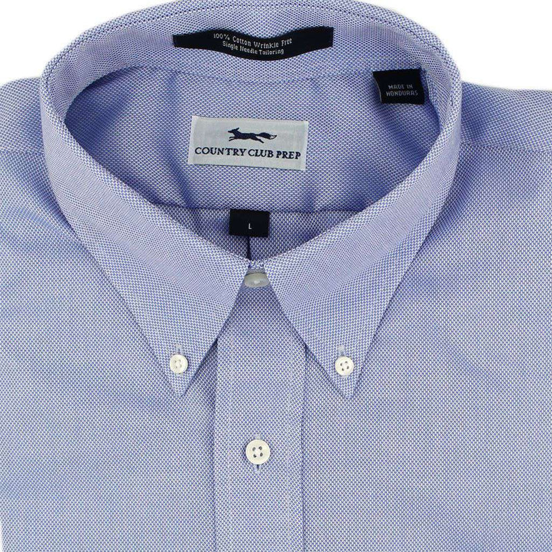 Men's Button Downs - Oxford Button Down In Blue By Country Club Prep - FINAL SALE