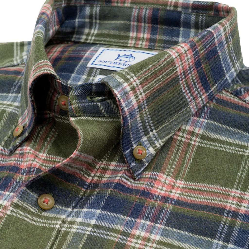 Pisgah Plaid Sport Shirt in Dark Sage by Southern Tide