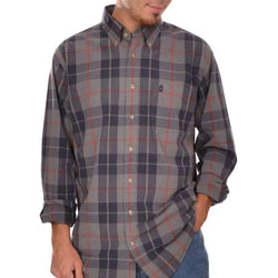 Men's Button Downs - Plantation Plaid Button Down In Grey By Brewer's Lantern - FINAL SALE