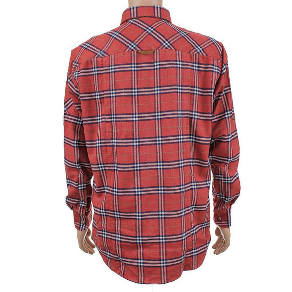 Plantation Shooting Shirt Button Down in Red by Southern Point Co. - FINAL SALE