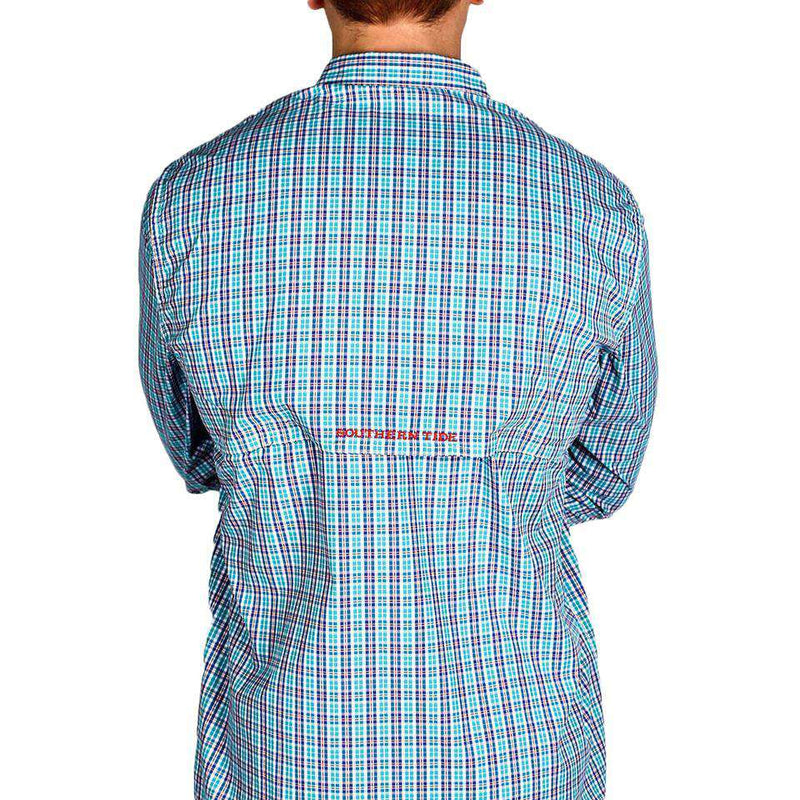 Red Drum Plaid Fishing Shirt in Atlas Green by Southern Tide