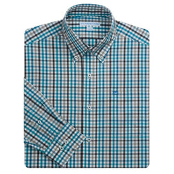 Men's Button Downs - Reedy River Check Sport Shirt In High Water By Southern Tide