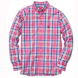 Men's Button Downs - Rich Red Southern Shirt By Southern Proper