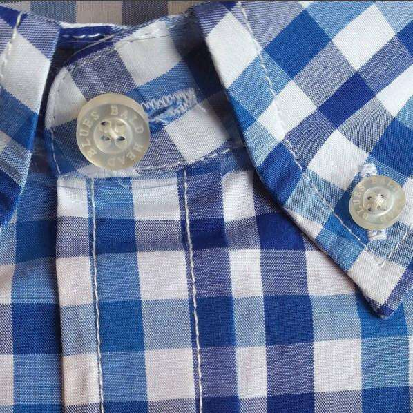 Shoals Club Button Down Shirt in Blue Check by Bald Head Blues