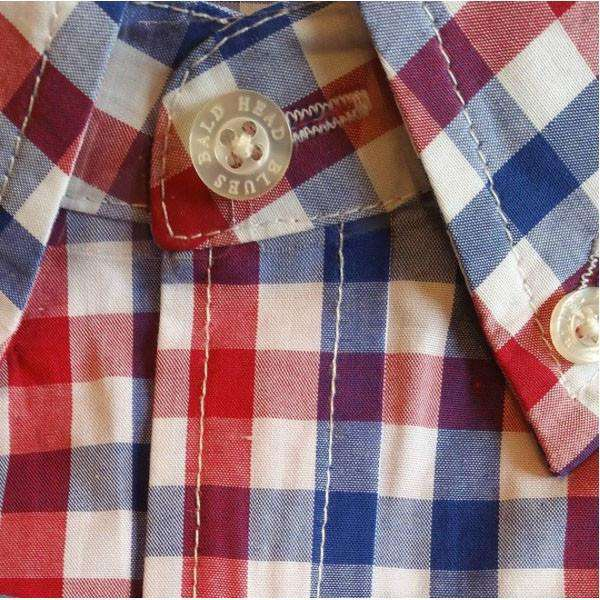 Shoals Club Button Down Shirt in Red Check by Bald Head Blues