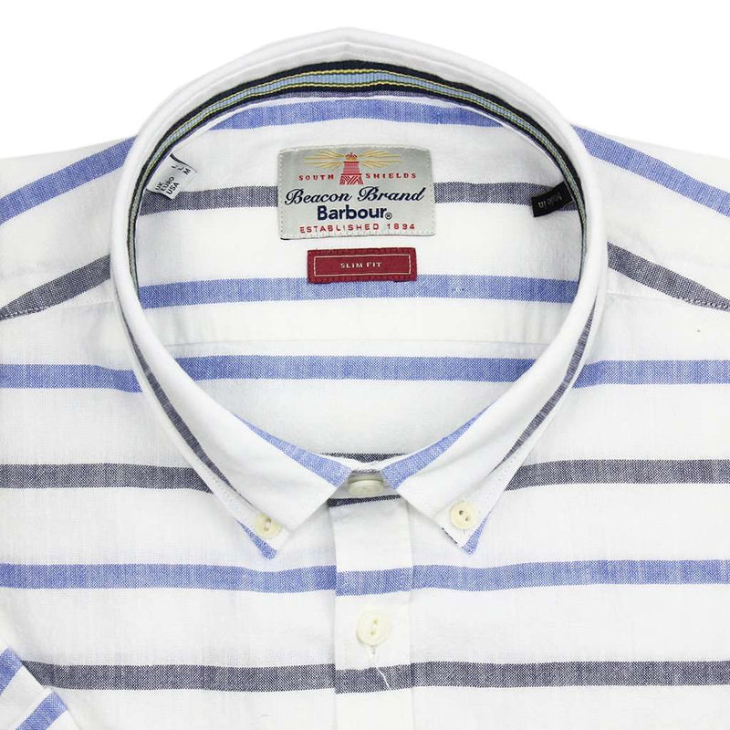 Short Sleeve Slim Fit Button Down in Whisper White by Barbour - FINAL SALE