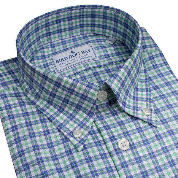 The Aberdeen Button Down in Green and Blue by Bird Dog Bay