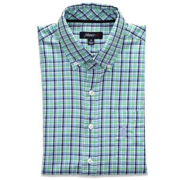 Men's Button Downs - The Bayshore Button-Down In Riptide By Johnnie-O