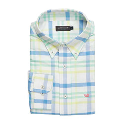 Men's Button Downs - The Belfort Oxford In Blue And Mint By Southern Marsh