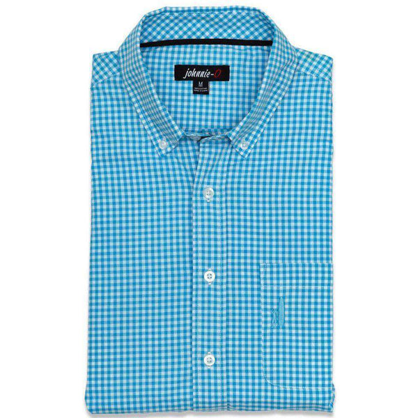 Men's Button Downs - The Berner Button-Down In Blue Mist By Johnnie-O