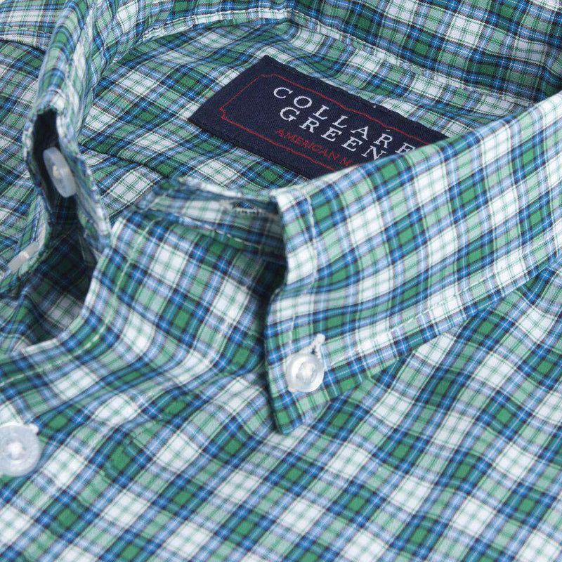 The Byrd Button Down in Blue and Green by Collared Greens
