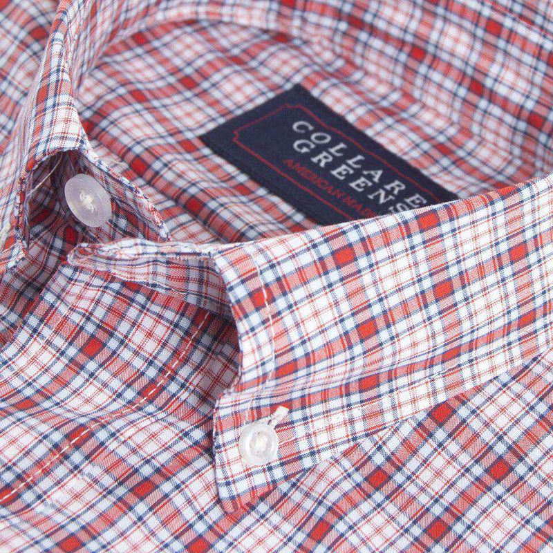 The Byrd Button Down in Red, Navy and Carolina by Collared Greens
